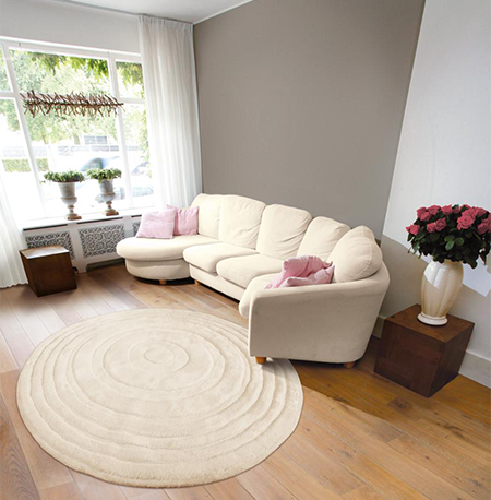 Круглые ковры в интерьере